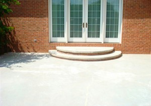 Concrete Patios and Walkways Rosaryville Maryland Before